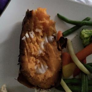 Coconut oil and sweet potato